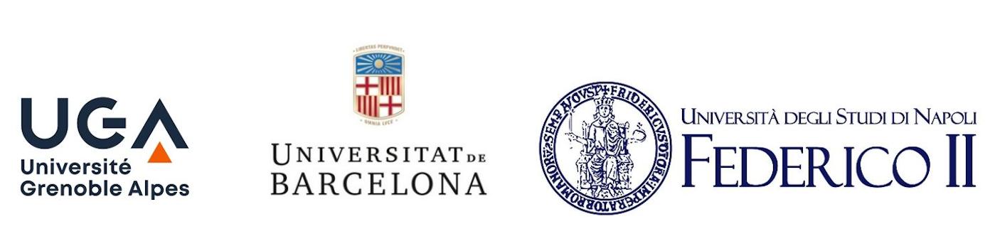 Logos UGA - Université Barcelone - Université Naples