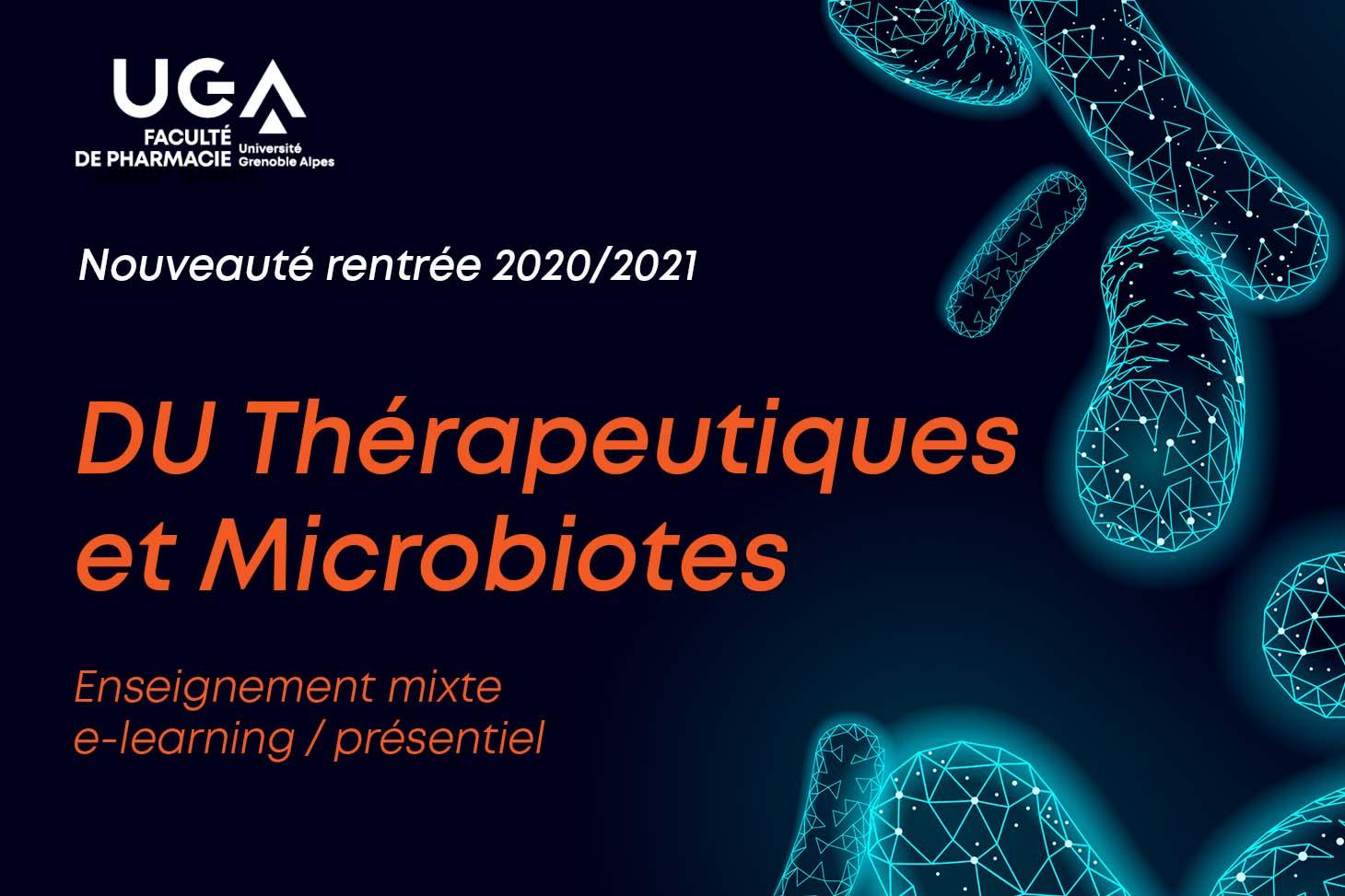 DU Thérapeutiques et microbiotes
