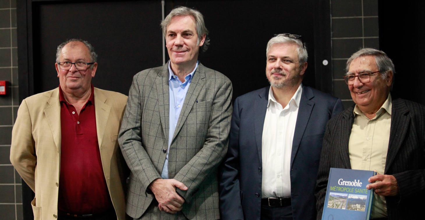 Lancement du livre Grenoble Métropole Santé -  De gauche à droite : J.F. LEBAS, P. MORAND, M. SEVE, J.J. SOTTO